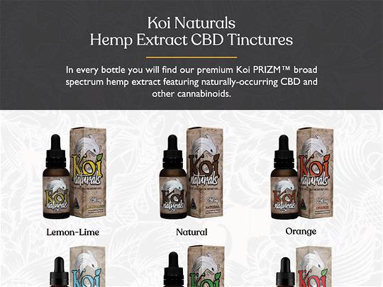 Ad - Koi CBD - Naturals Tinctures
